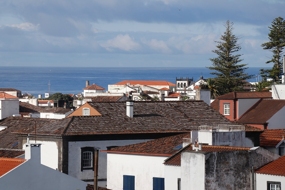City, Ocean, Architecture, Atlantic, Portugal, Azora