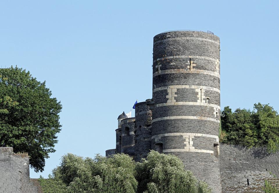 Castle, City Of Angers, France, Europe, Architecture