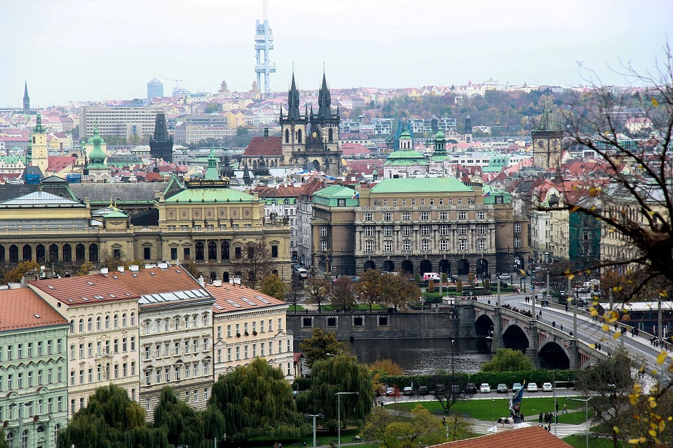 Prague, Old, City, Czech, Architecture, View