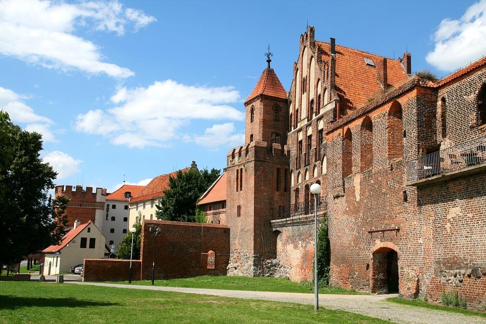 Toruń, Poland, Old, City, Castle, Building