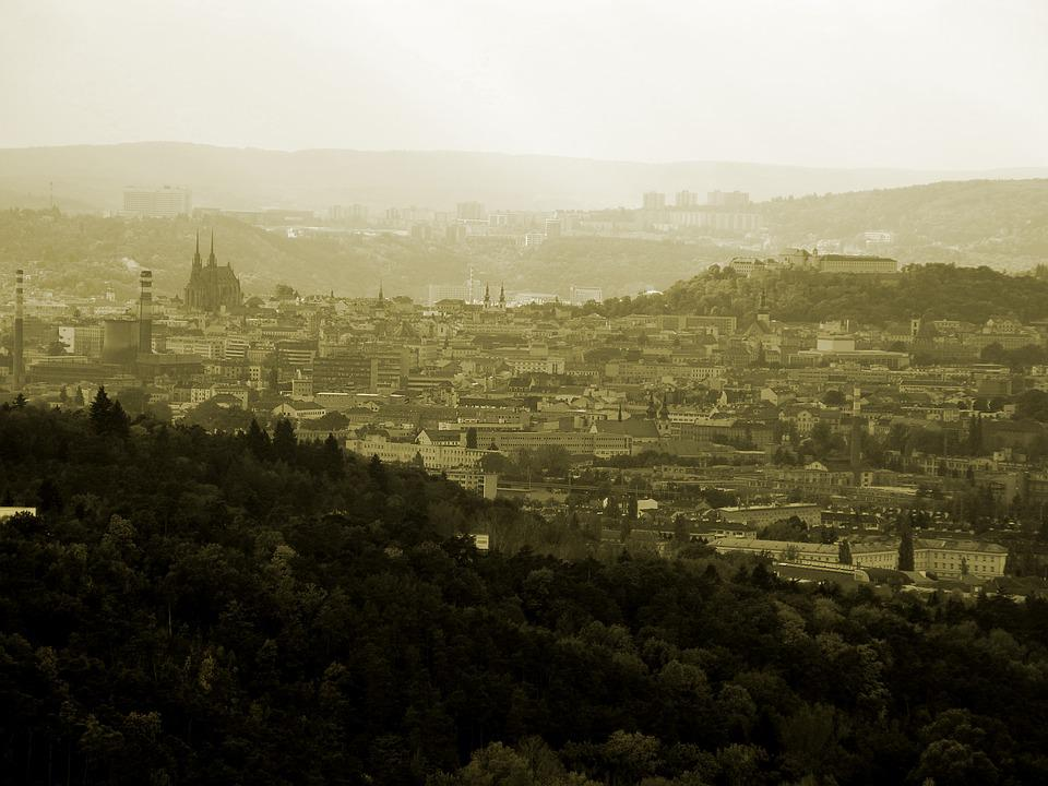 City, Panorama, Brno Czech Republic