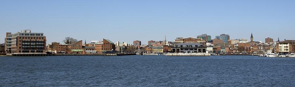 Water, Panoramic, Panorama, City, Sea, Baltimore