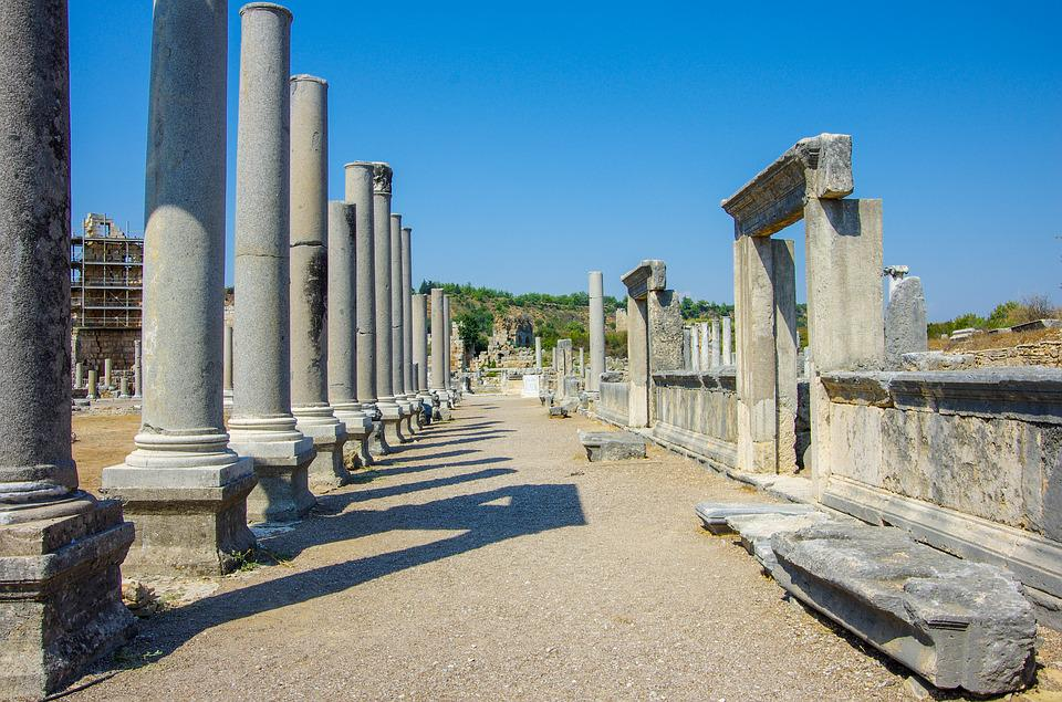 The Ancient City Of Perga, Perge, Ancient, City