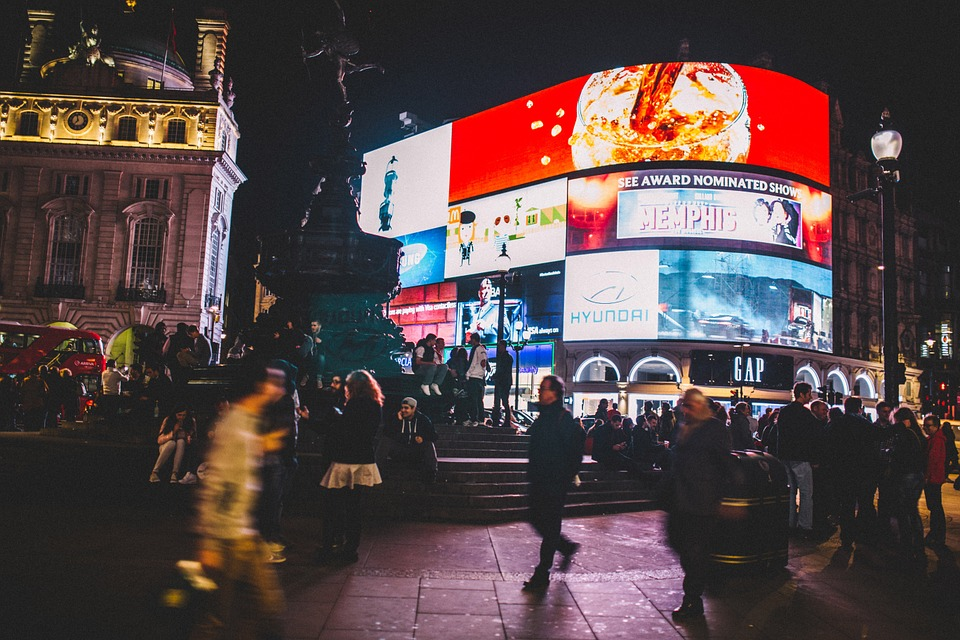 Piccadilly Circus, People, Crowd, Busy, City, Urban