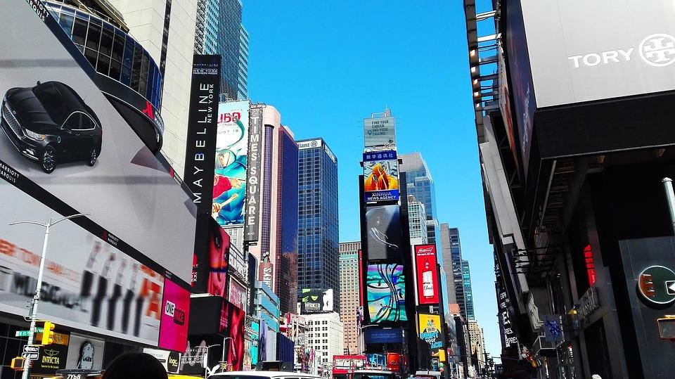 New York, New, York, Sky, Blue, Place, Monument, City