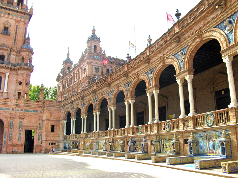 Sevilla, Plaza, Square, Summer, City
