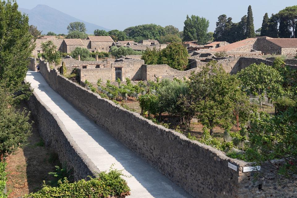 Pompeii, Road, Naples, Italy, City, Excavation, Ruins