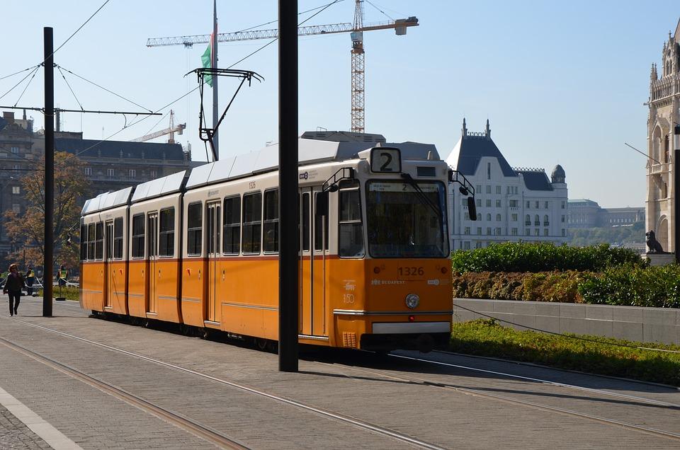 Tram, Transport, Yellow, City, Urban, Train, Railway