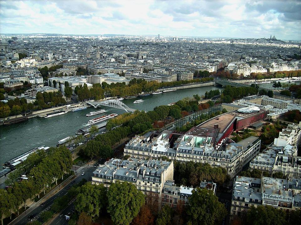 Paris, City, River, Seine, Montmartre