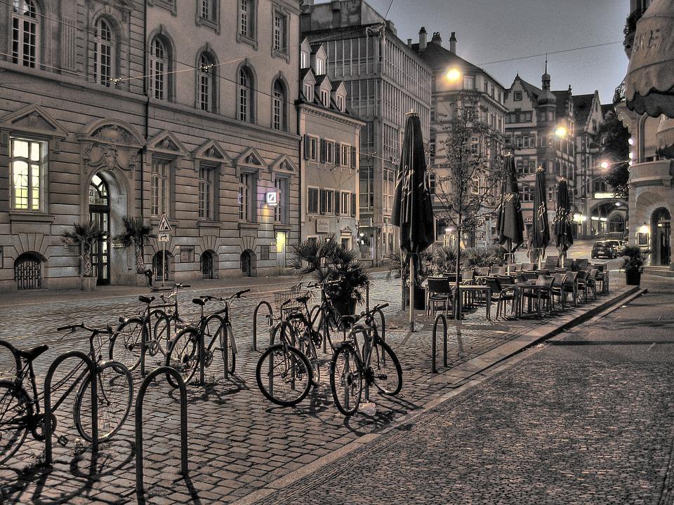 Freiburg, City, Germany, Road, Houses