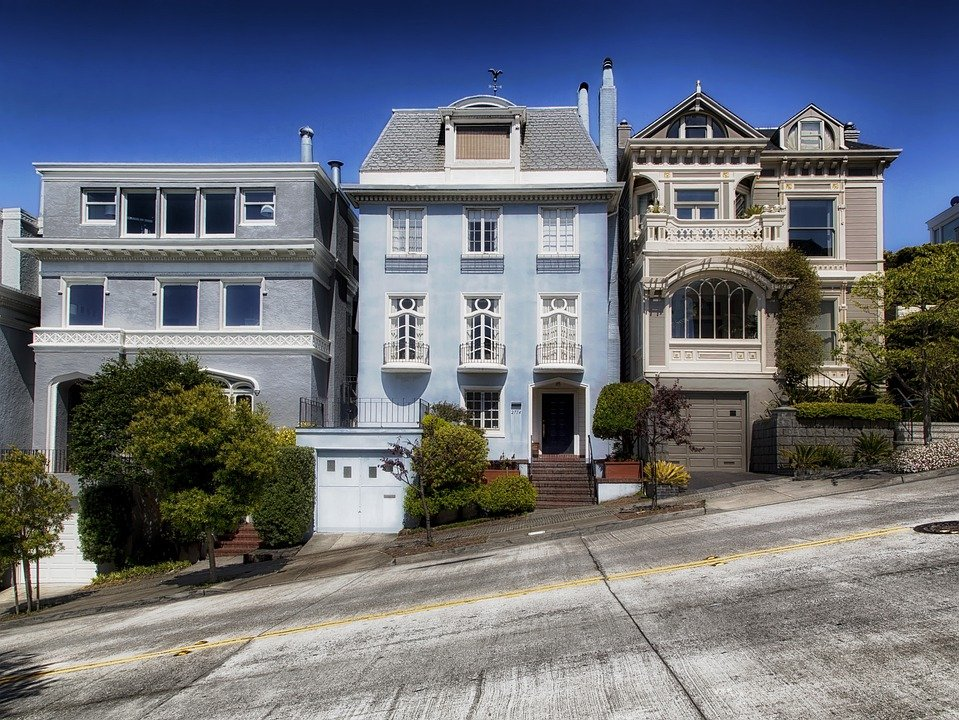 San Francisco, California, City, Cities, Urban, Houses