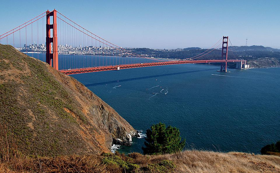 San Francisco, City, Golden Gate Bridge, California