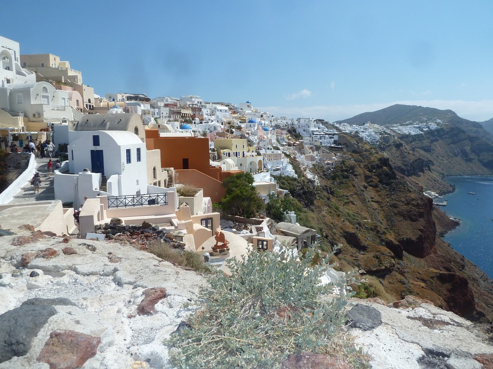 Santorini, City, Greece