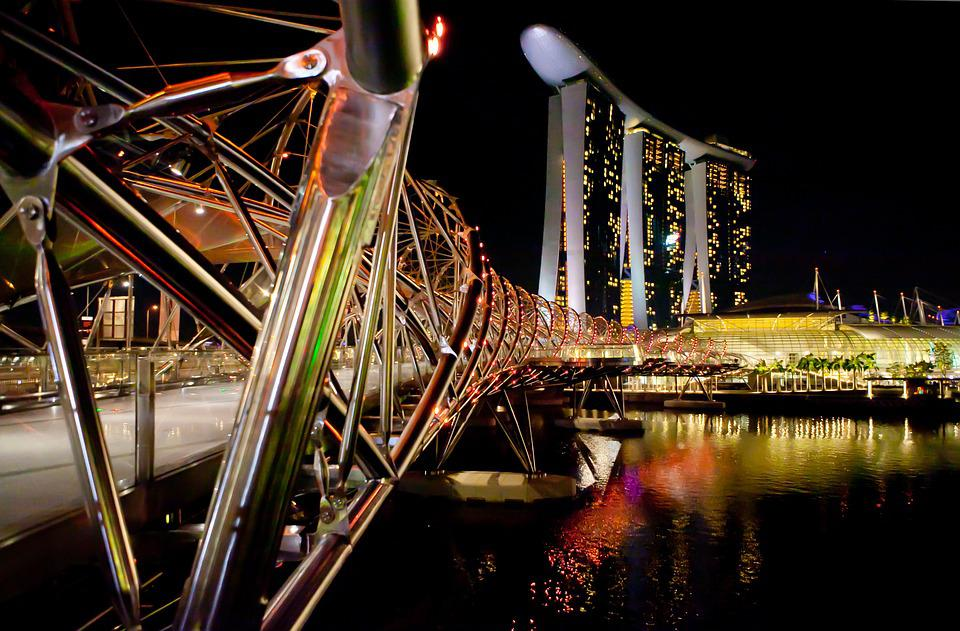 Commercial, Singapore, Night View, Sea, City, Building