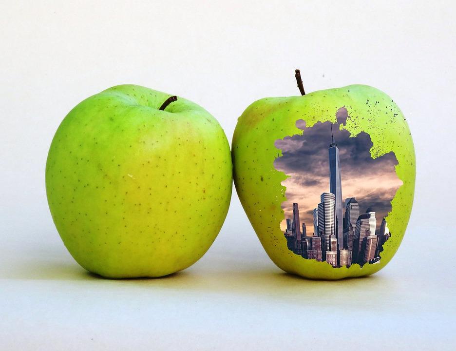 Apple, Skyline, City Skyline, Office Building, Seattle