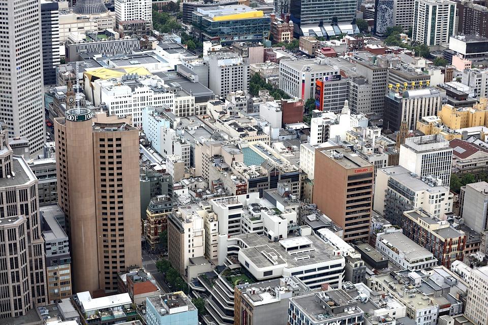 City, Melbourne, Australia, Melbourne City, Skyscraper