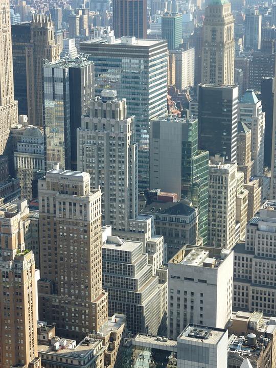 Building, City, Manhattan, New York, Skyscraper