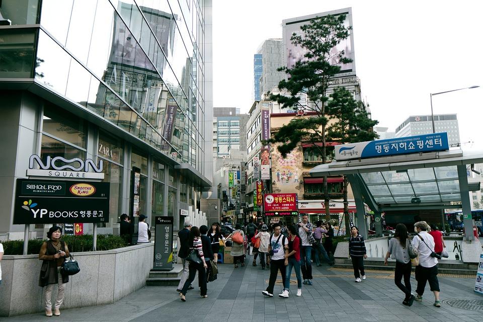 Myeongdong, Seoul, Korea, South, Korean, City, Tower