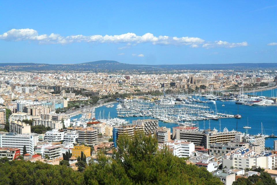City, Palma, Majorca, Spain, Port, Ships, Boats