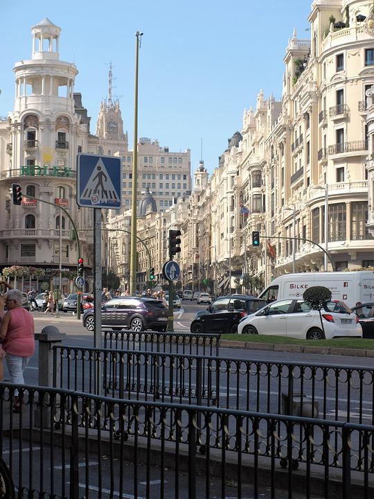 Madrid, City, View, Spain, Road