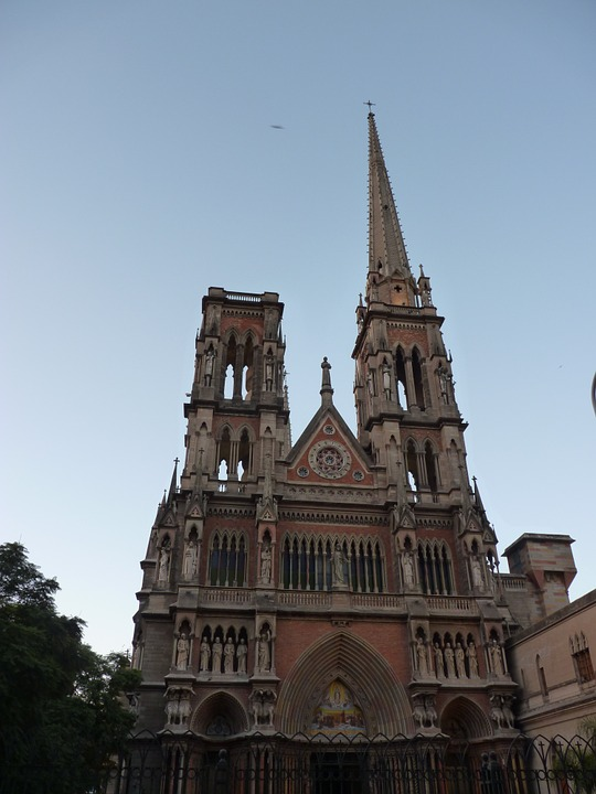 Church, Spire, Architecture, Building, City, Landmark