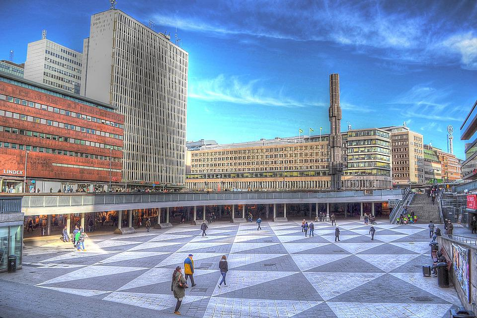 Square, Stockholm, Plate, Sergels Torg, Sweden, City