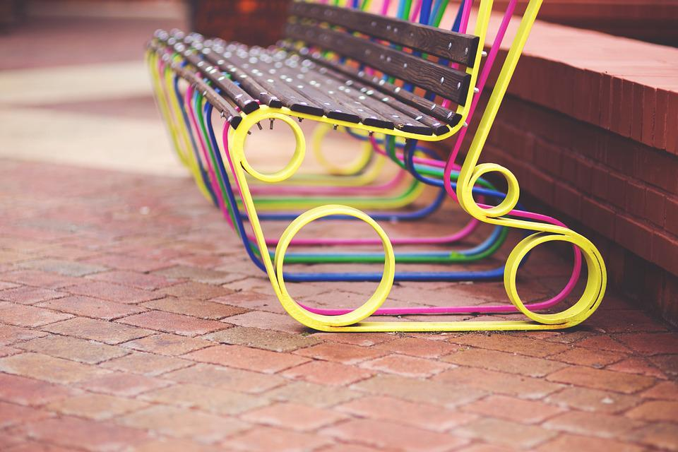 Bench, Design, Designer, Poland, City, Street