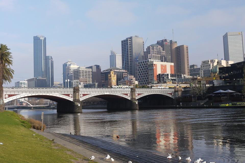 River Banks, City, Sun, Melbourne