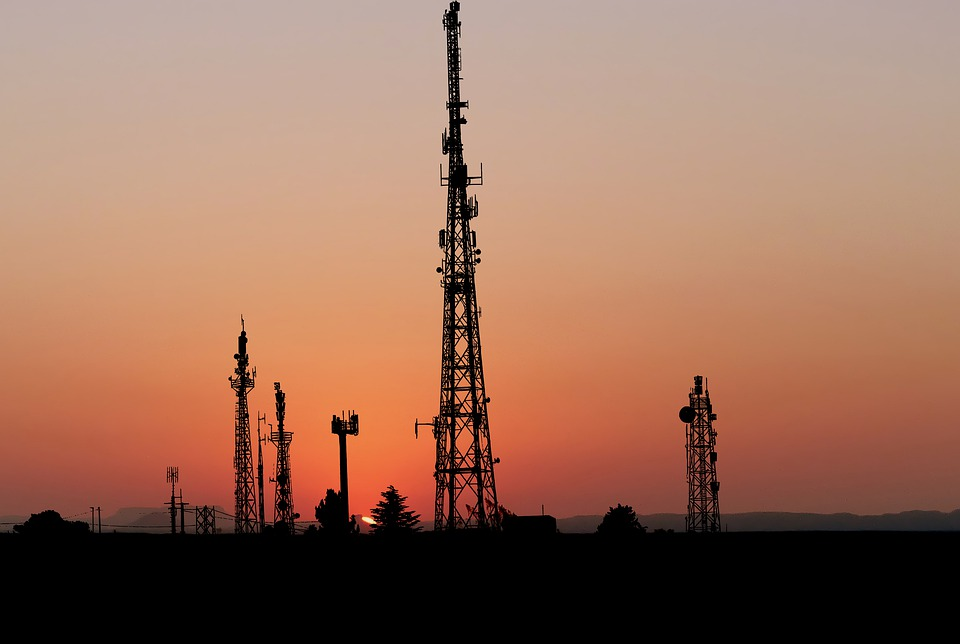 Sunset, Building, Communication, Tower, Urban, City