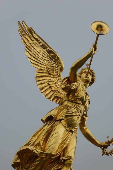 Dresden, City, Germany, Angel, Statue, Wing, Symbol