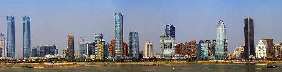 City, Nanchang, Honggutan, Riverview, Tall Buildings