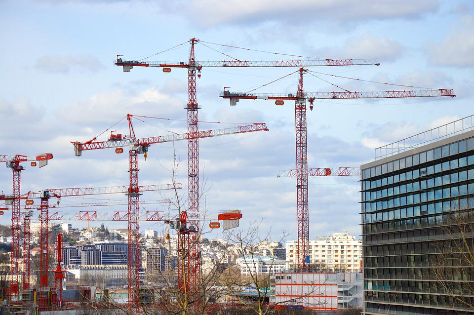 Crane, Building, Work, City, Urban, Project, To Build