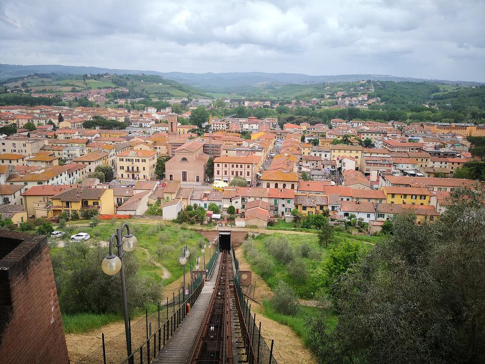 Architecture, Panoramic, Town, City, Hill, Toscana