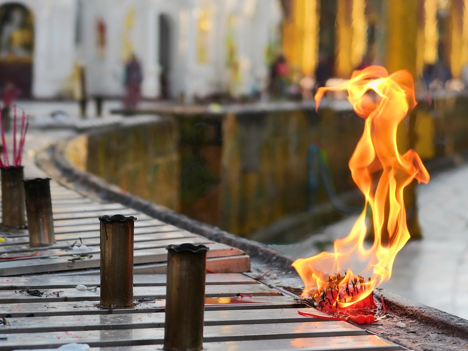Flame, Outdoors, Travel, City, Wood, Reflection