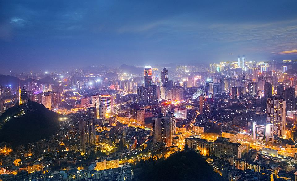 Cityscape, City, A Bird's Eye View, Skyline, Twilight
