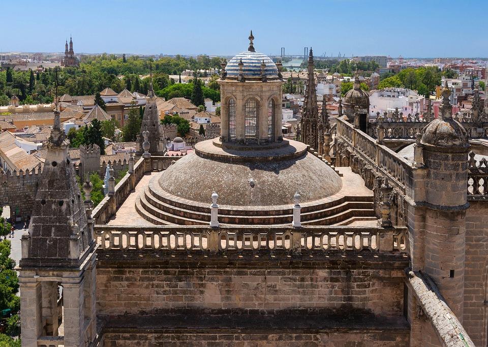 Seville, Spain, City, Urban, Sky, Clouds, Buildings