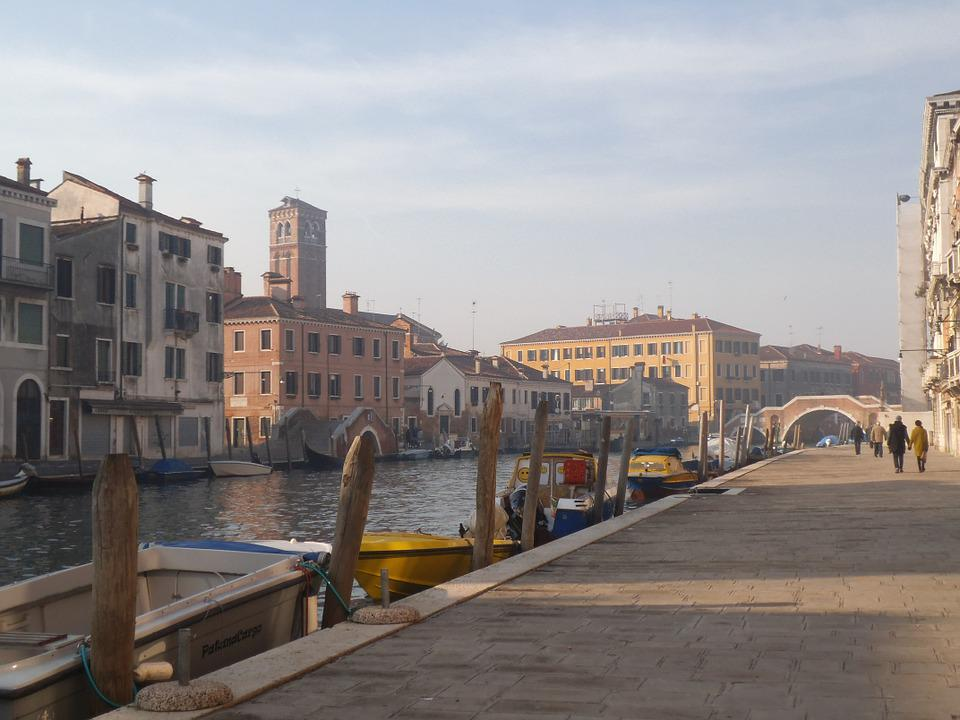 Venice, City, Channel, Italy