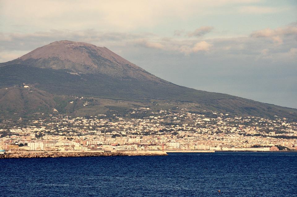 Naples, Italy, Sea, Vesuvius, Landscape, Tourism, City