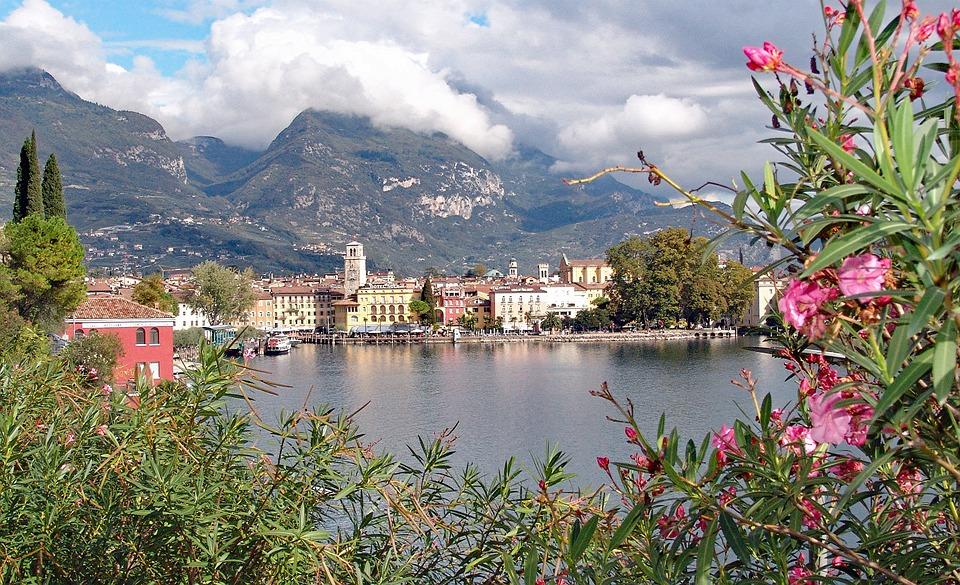 Italy, Garda, Riva, Mountains, Lake, City View