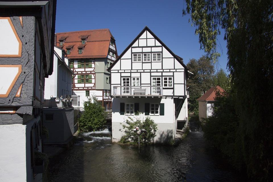 Ulm, City, City View, Old Town, Fachwerkhäuser