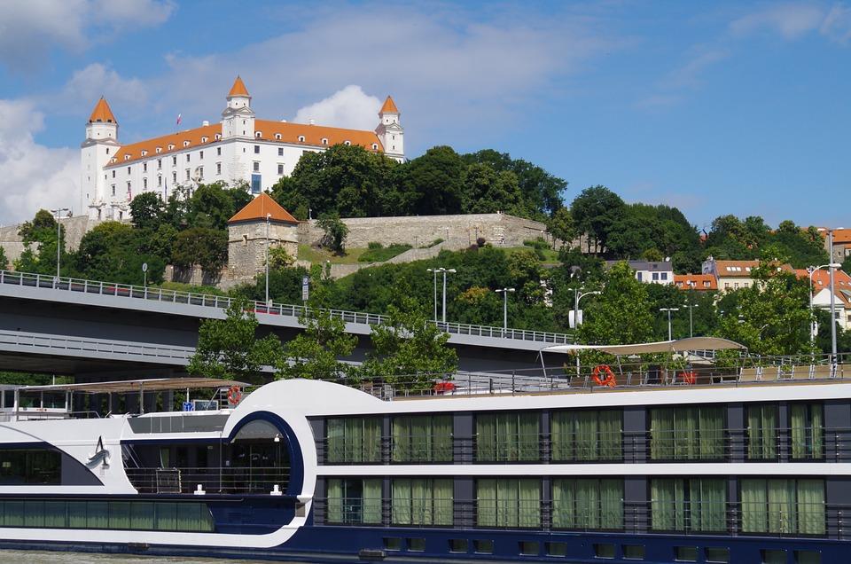 Bratislava, Slovakia, Castle, Ship, City, Danube, Views