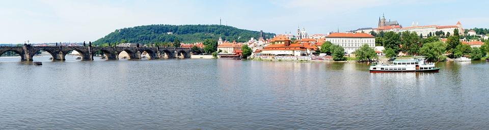 Prague, Panorama, City, Vltava, Charles Bridge