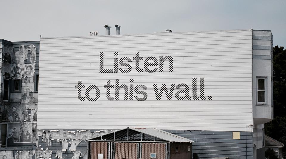 Street Art, Wall, Listen, Message, Urban, City, Culture