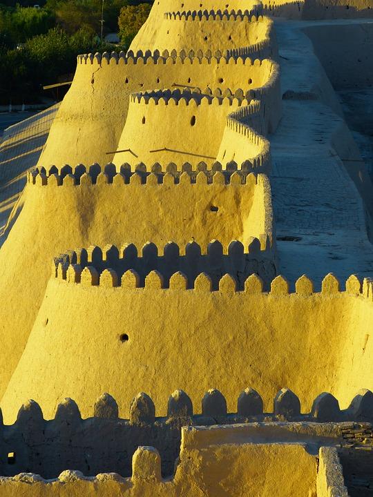 City Wall, Battlements, Khiva, Old