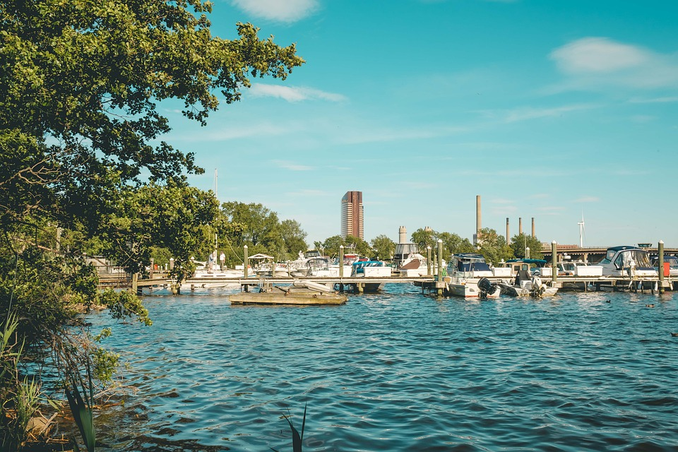 City, Ship, River, Wa, Water, Lake, Boston, Summer
