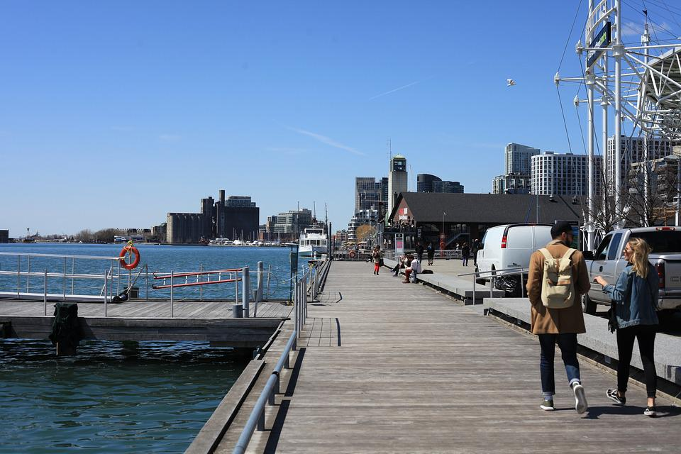 Toronto, Water, Lake, Panorama, City, Architecture