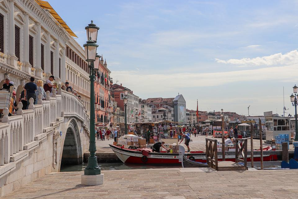 Italy, Venice, Arrival, Channel, City, Water, Building