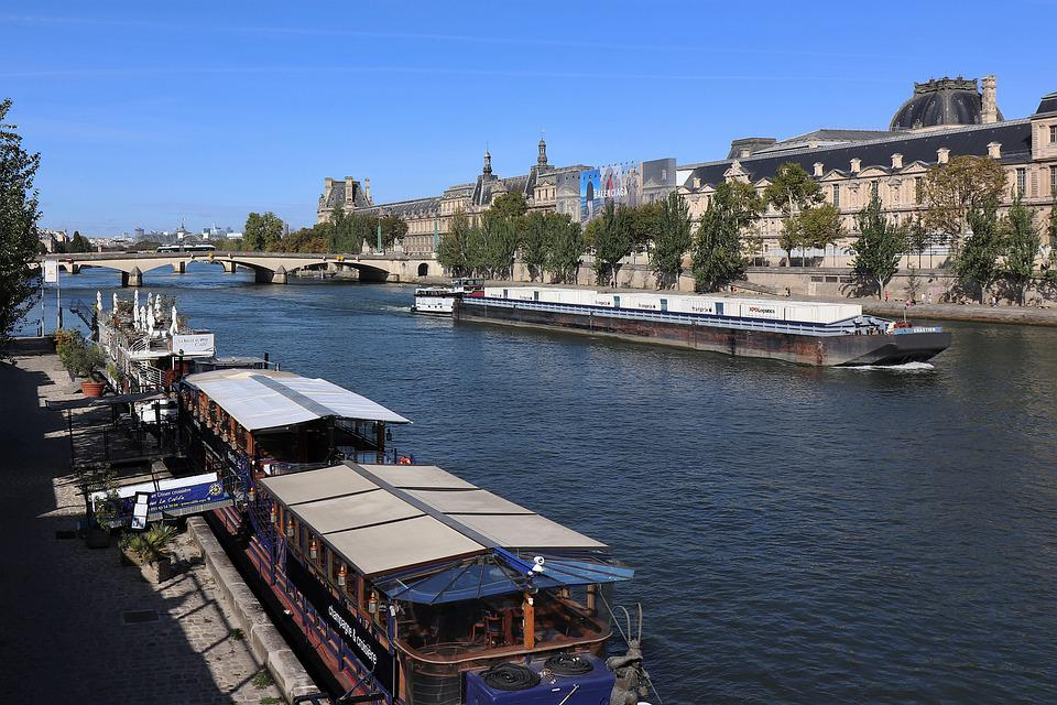 River, City, Ferry Boats, Waterway