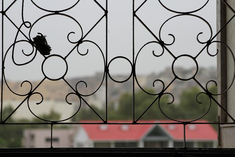 Grill, Ornate, Window, Lattice, View, Town, City