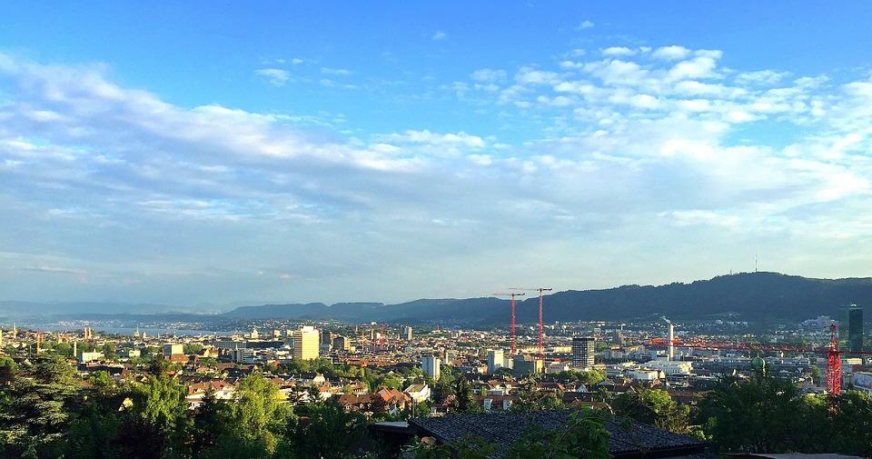 Zurich, City, Switzerland, Skyline, Prime Tower, Sky
